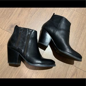 Leather Ankle Boots, Size: US 6.5/ EUR 37